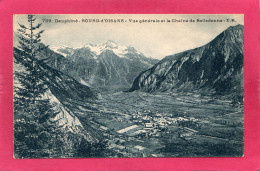 38 ISERE BOURG-d'OISANS, Vue Générale Et La Chaîne De Belledonne, (E. R.) - Bourg-d'Oisans