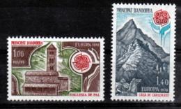 Andorre 269 270 Europa 1978 Paysages 1/4 De Cote Neuf ** TB MNH Sin Charnela Cote 27 - Neufs