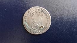 1/12 Ecu 1643 A Rose Louis XIII - Percé - 987-1789 Könige