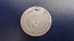 1/12 Ecu 1643 A Point Louis XIII - Percé - 987-1789 Könige