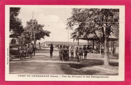 38 ISERE, Camp De CHAMBARAN, Vue Du Kiosque Et Des Baraquements, Animée, (Raymond) - Casernes
