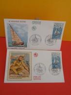 FDC- Le Navigateur Solitaire, Alain Gerbault - 92 Puteaux - 10.1.1970 - 1er Jour, Coté 12 € Lot 2 FDC - 1970-1979