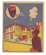 Chromo Banania Signé Vica ( N°33 ) - Usine Courbevoie, Négritude, Automobile, Banane, Y´a Bon ... - Banania