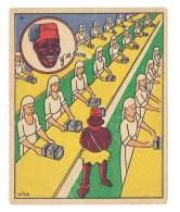 Chromo Banania Signé Vica ( N°36 ) - Usine, Femmes Au Travail, Négritude, Banane, Y´a Bon ... - Banania