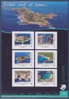= Collector Entre Ciel Et Terre Les Îles Françaises 6 Timbres LV20g COL217 La Corse Bonifacio Calvi La Parata Bastia - Collectors