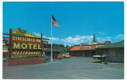 Vancouver Washington, Stagecoach Inn Motel And Restaurant, Auto, C1950s Vintage Postcard - Vancouver