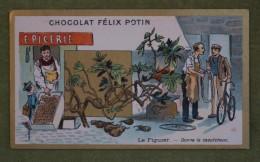 Félix POTIN - Chromo Sujet Botanique - Nature - Le Figuier - Donne Le Caoutchouc - Imp. Champenois - Cioccolato