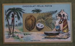 Félix POTIN - Chromo Sujet Botanique - Nature - Le Cocotier - Imp. Champenois - Cioccolato