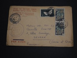 MADAGASCAR - Enveloppe  De Tananarive Pour La France En 1962 , Affranchissement Mixte - A Voir - L 878 - Madagascar (1960-...)