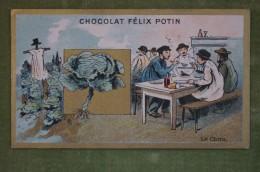 Félix POTIN - Chromo Sujet Botanique - Nature - Le Chou - Imp. Champenois - Cioccolato