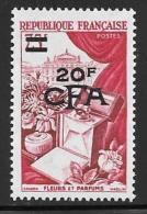 Reunion, Scott # 304 Mint Hinged France # 715 Surcharged, 1954 - Réunion (1852-1975)