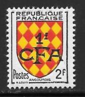 Reunion, Scott # 305 Mint Hinged France # 737 Surcharged, 1954 - Réunion (1852-1975)