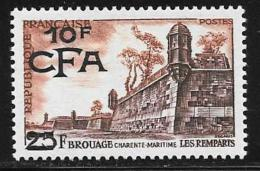 Reunion, Scott # 317 Mint Hinged France # 779 Surcharged, 1955 - Réunion (1852-1975)