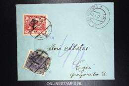 Czechoslovakia Cover 1919  + Tax Austrian Stamp