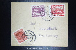 Czechoslovakia Cover 1919  Mixed Stamps + Tax Austrian Stamp