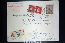 Czechoslovakia Registered Cover Brno To Groningen  Mixed Stamps