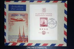 Czechoslovakia Airmail Cover BRNO 1946  Mi 502 B Block 9, As FDC