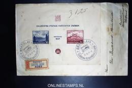 Czechoslovakia Registered Cover Mi Block 1  Bratislava  To Apeldoorn Holland