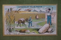 Félix POTIN - Chromo Sujet Botanique - Nature - Le Blé - Farine, Pain, Chaume - Imp. Champenois - Ohne Zuordnung
