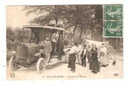 CPA TOP 77 CÉLY-EN-BIÈRE - ARRIVÉE DE L´AUTOBUS Autobus Belle Animation 1909 - France