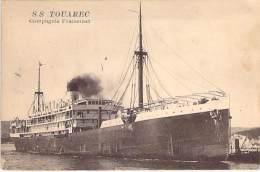 """PAQUEBOT Cruise Ship Kreuzfahrtschiff : SS """" TOUAREC"""" Cie Fraissinet - CPA ( Cruiseschip Pakkeboot ) - Steamers"""