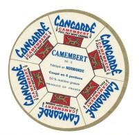 Ancienne Etiquette Fromage Camembert Concorde Normandie 6 Portions  Export - Kaas
