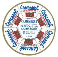 Ancienne Etiquette Fromage Camembert Concorde Normandie 6 Portions ULN Condé Manche  Export - Kaas
