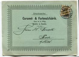 PUBBLICITà CARAMEL FARBMALZFABRIK HALLE SAALE SASSONIA GERMANIA - Publicités