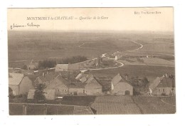 CPA  39 JURA  - MONTMIREY-LE-CHATEAU - LE QUARTIER DE LA GARE - Francia