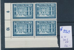 D.-Reich  Nr. 4x 703  **   (ff9969 ) Siehe Scan  ! - Allemagne