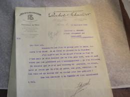 Lettre De Rochet Schneider à Mollard Industriel à Saint Germain En Laye . Trégastel Primel Naufrage De Son Yacht 1923 - Autografi