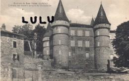 DEPT 07 : 2 Scans : Les Vans , Chateau Des Anciens Marquis De Chaneleilles - Les Vans