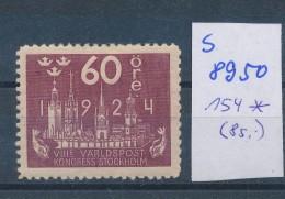 Schweden   Nr. 154  *   ( S 8950  ) Siehe Scan  ! - Svezia