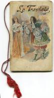 CALENDARIETTO DA BARBIERE LA TRAVIATA ANNO 1921 CALENDRIER OPERA LIRICA - Calendari