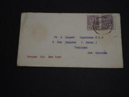 MEXIQUE - Enveloppe Pour La France En 1937 Via New York - A Voir - L 900 - Messico