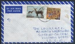 Zambia 1983  Sc#286  35n  Lechwe  On Cover - Zambia (1965-...)
