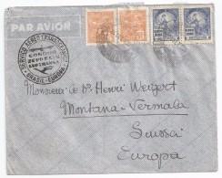 Enveloppe Par Avion 24 Septembre 1936 - Condor Zeppelin Lufthansa - Brésil - Poste Aérienne (Compagnies Privées)