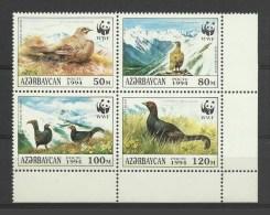 Azerbaidjan 1994 Yvert 163/166 ** Oiseaux Birds Tetras Lyre Coq - Azerbaïjan