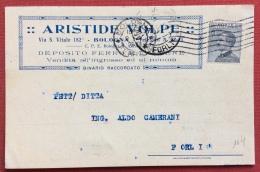 BOLOGNA 1929 CARTOLINA PUBBLICITARIA  ARISTIDE VOLPE  FERRO E LAMIERE  CON BINARIO PROPRIO - Werbepostkarten