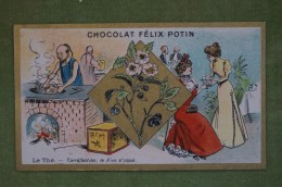 Félix POTIN - Chromo Sujet Botanique - Nature - Le Thé - Torréfaction, Le Five O'clock - Imp. Champenois - Cioccolato