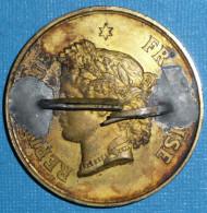 Rare Ancienne Médaille Bronze Laiton, République Française 1892, Exposition Du Travail National, Ville De Courbevoie - Tourist
