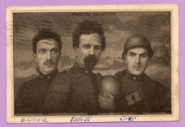 Foto-cartolina D'epoca - Militare - I Martiri Tridentini (Filzi, Battisti, Chiesa) - MIL17 - Guerra, Militari