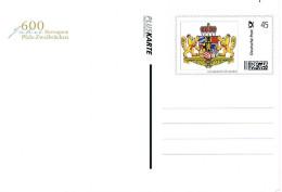 Deutschland Ganzsache 600 Jahre Herzogtum Pfalz - Zweibrücken Mit Marke Individuell - Wappen, Coat Of Arms, Heraldik - Storia Postale