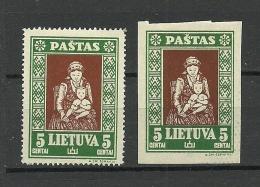 LITAUEN Lithuania 1933 Michel 364 A + B * - Lithuania