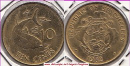SEYCHELLES 10 Cents 1982 KM#48.1 - Used - Seychelles