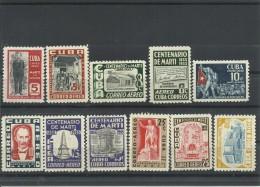 CUBA AEREO YVERT   78/87   MH  * - Poste Aérienne