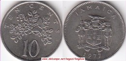 GIAMAICA 10 Cents 1977 KM#47 - Used - Giamaica