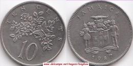 GIAMAICA 10 Cents 1987 KM#47 - Used - Giamaica