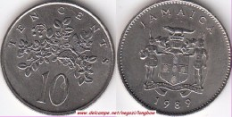 GIAMAICA 10 Cents 1989 KM#47 - Used - Giamaica
