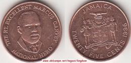 GIAMAICA 25 Cents 1986 KM#167 - Used - Giamaica